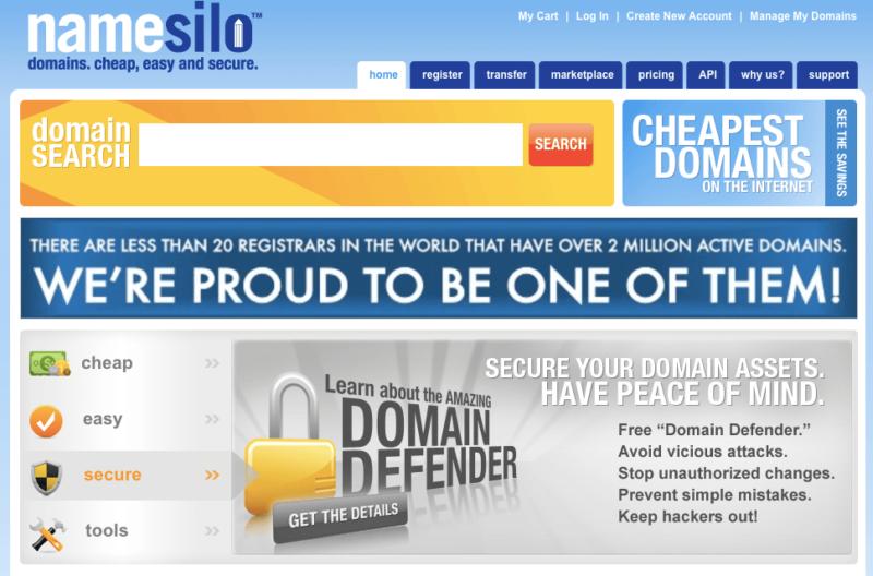 O site NameSilo está desactualizado e desmente sua força como registrador de domínios de primeiro nível.