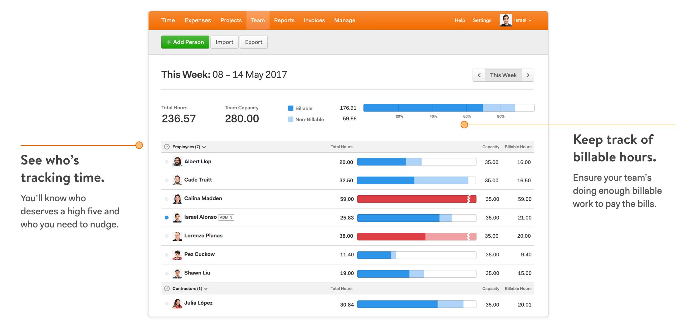 Harvest - best time tracking software