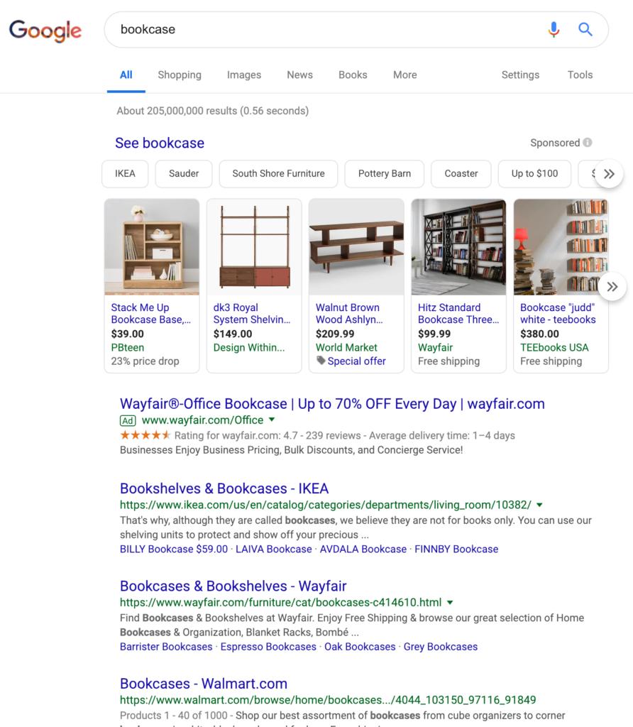 Google Search Marketing - Bookcase