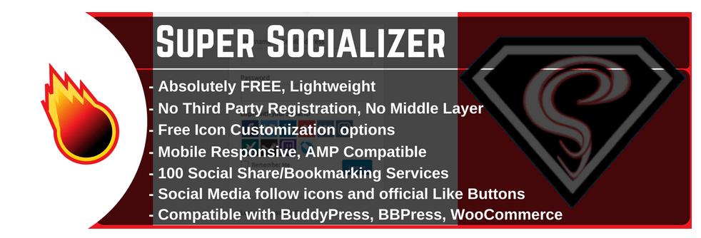 Super Socializer meilleur plugin wordpress