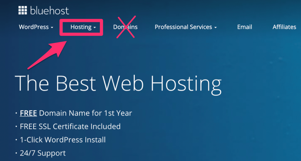 Bluehost obtenir un nom de domaine gratuit