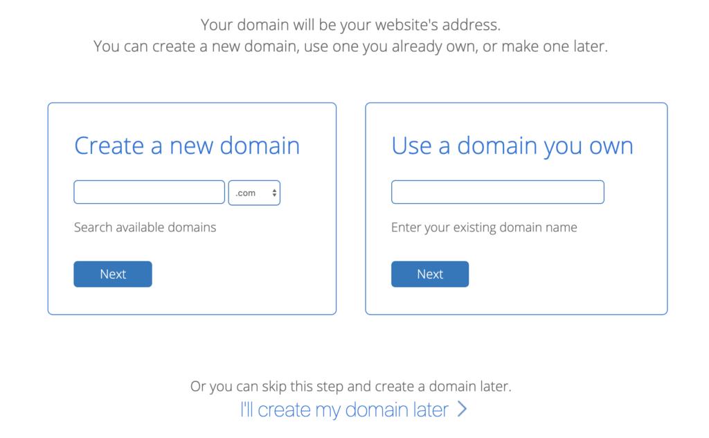 Choisissez un nom de domaine gratuit sur bluehost