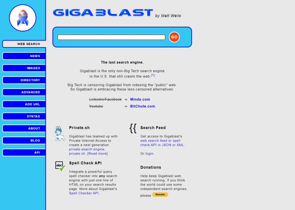 gigablast moteur de recherche