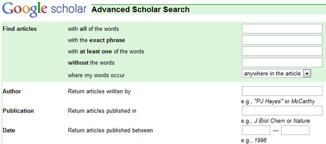 Google search advanced
